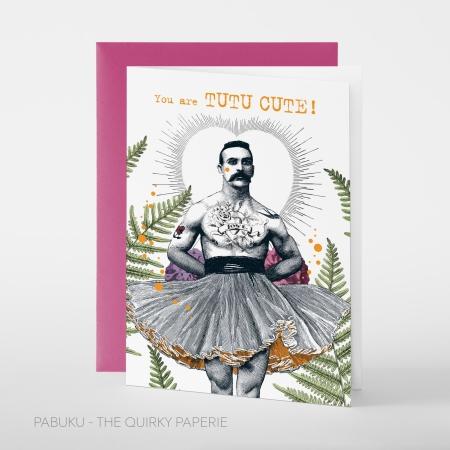 Greeting card PABUKU_Q_F087_TutuCute