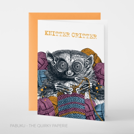 greeting card PABUKU F094_KnitterCritter