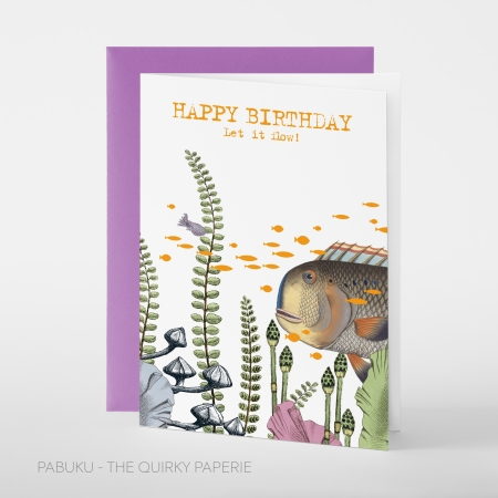 greeting card PABUKU F101 BirthdayFlow