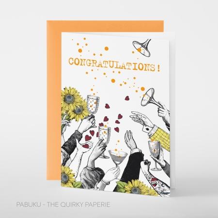 greeting card PABUKU F104 HandsUp