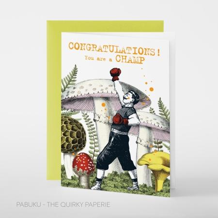 greeting card PABUKU F105 Champ