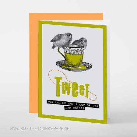 greeting card PABUKU S004 Spotlight Twitter bird