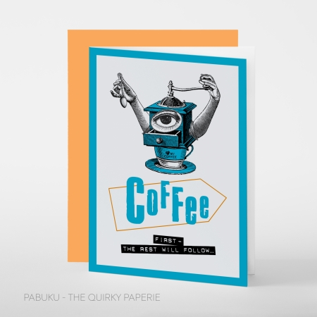 greeting card PABUKU S005 Spotlight Coffee first