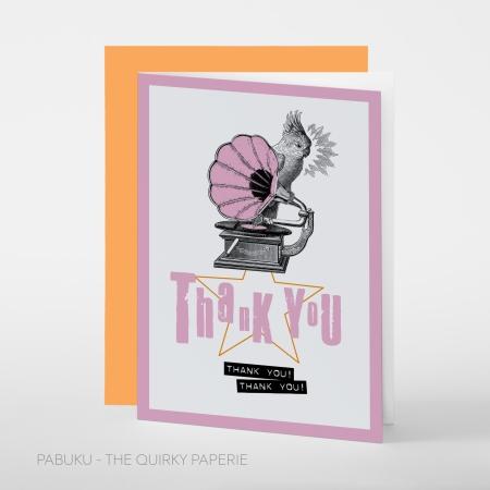 greeting card PABUKU S010 Thank You Cockatoo Spotlight