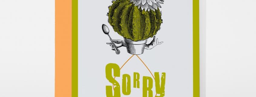 greeting card PABUKU S012 Sorry Cactus Spotlight