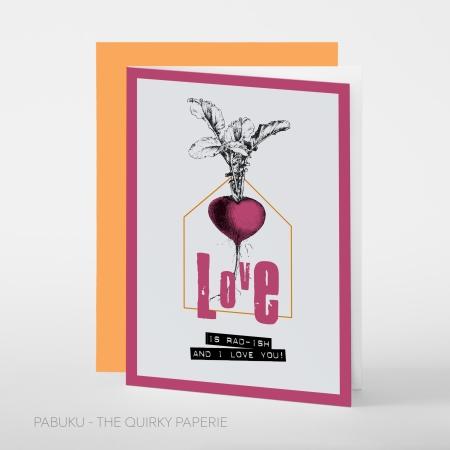 greeting card PABUKU S015 Love rad-ishSpotlight