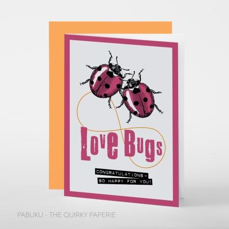 greeting card PABUKU S018 Love Bugs Spotlight