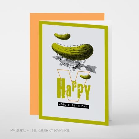 greeting card PABUKU S023 Veggie BirthdaySpotlight