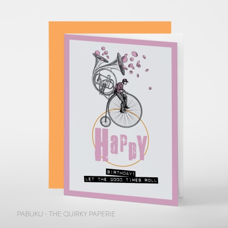 greeting card PABUKU S024 Birthday Bike Spotlight