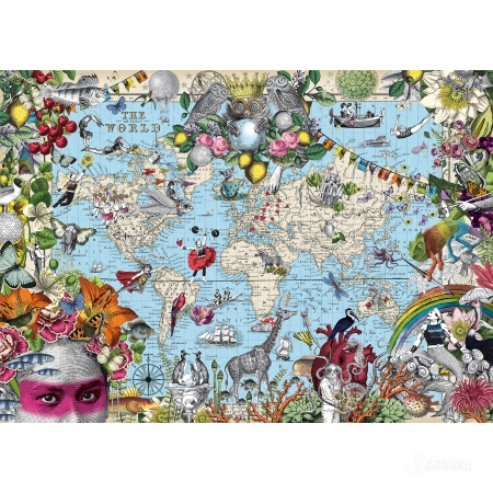 PABUKU jigsaw puzzle map