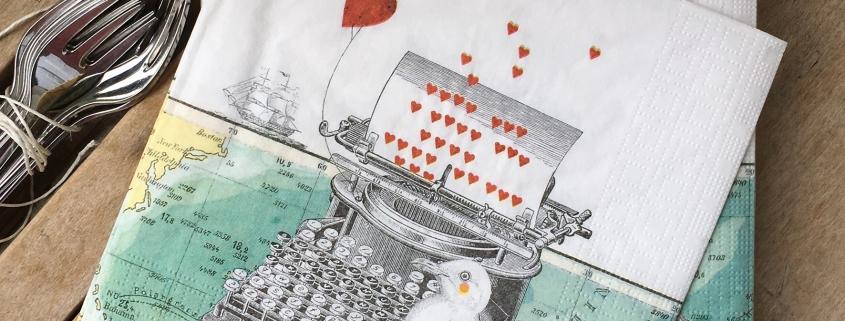 PABUKU x PPD paper napkin Just Love You