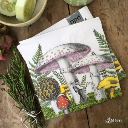 PABUKU x PPD paper napkin Mushrooms